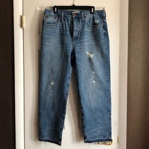 New Madewell classic strait jeans.
